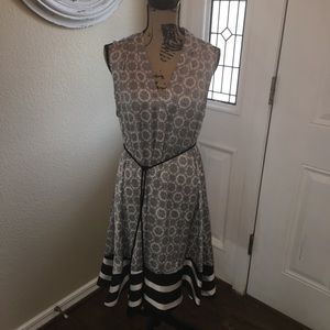 Silk black and white dress